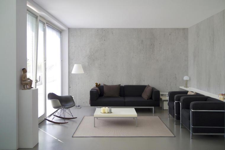 Wohnzimmer mit Betonboden - Firma Riedl Natursteine in Künzing